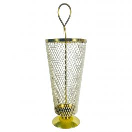Exceptional Midcentury Brass and Aluminium Umbrella Stand, Germany, 1960s