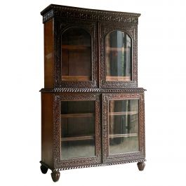 19th Century Victorian Colonial Anglo Indian Padouk Bookcase, circa 1890