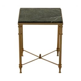 Luxurious French Marble and Brass Side Table, 1960s