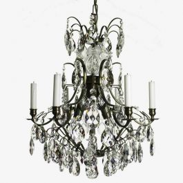 Baroque Six Arm Chandelier with Candles