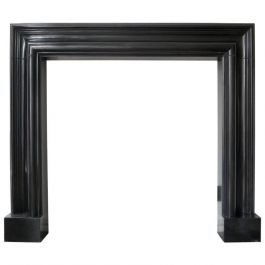 Contemporary Black Marble Bolection Fireplace Mantel