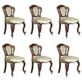 Set of Six 1830s Regency Mahogany Dining Chairs