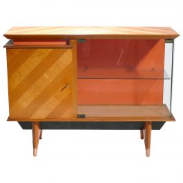 Midcentury French Modernist Cabinet Vaisselier, 1950s