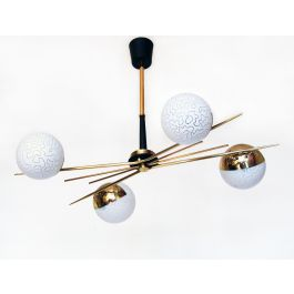1960s Sputnik Ceiling Light by Maison Arlus