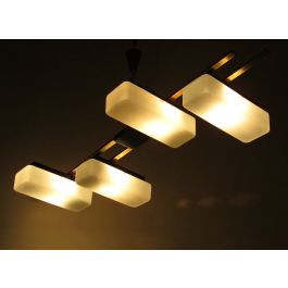 Modernist 1960s Ceiling Fixture by Maison Arlus