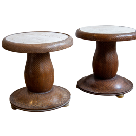 A pair of Indian low tables