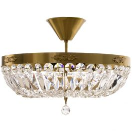 Plafond Crystal Chandelier in Brass (42cm/16.5inches)