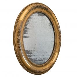 Antique Oval Mirror, English, Gilt Gesso, Mercury Plate, Georgian, circa 1800
