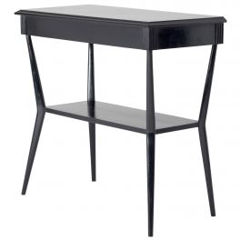 Midcentury Two-Tiered Ebonized Console Table