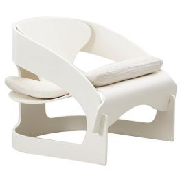 Joe Colombo white 4801 chairKartell, Italy 1965