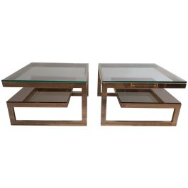 Vintage Side Tables by Dewulf for Belgo Chrom / Dewulf Selection, Set of 2