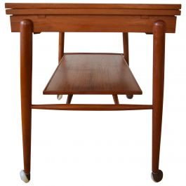 Scandinavian Modern Teak Bar or Serving Cart, Denmark, 1960s