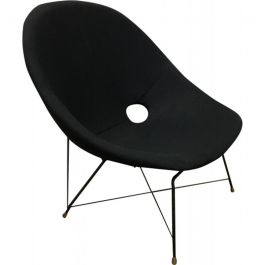 Vintage Black Italian Cosmos Lounge Chair by Augusto Bozzi for Saporiti