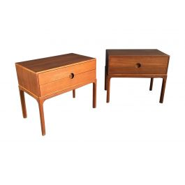 1955s Set Of 2 Teak Night Stands By Aksel Kjersgaard