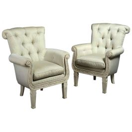 Pair of Overscale Painted Armchairs