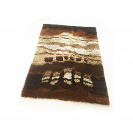 Large Abstract Vintage 1970s Modernist Multi-Color High Pile Rya Rug by Desso, Netherlands