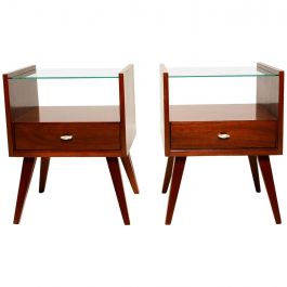 Pair of Mid-Century Modern Nightstands by Mengel, Raymond Loewy