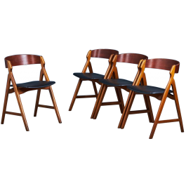 Set of four dining chairs by Henning Kjærnulf for Bolting, 1960s
