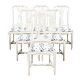 Set of 6 Swedish Sparreholm Chairs