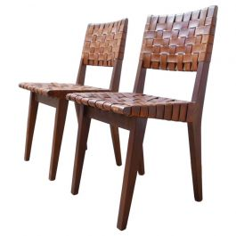 Leather Midcentury Chairs Attributed to Jens Risom