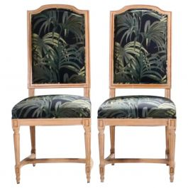 Pair of French Louis XV Style Chairs, 1950s