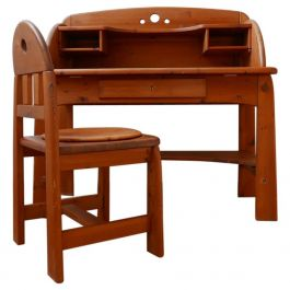Pine Midcentury Desk and Chair