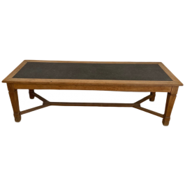 LARGE MONASTERY OAK AND BLUE STONE DINNING TABLE
