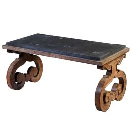 Contemporary Knowle Scroll Leg Table