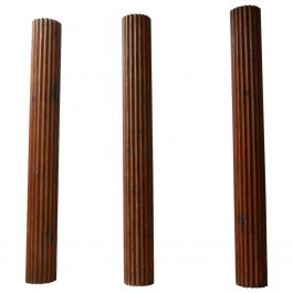 A Trio of Antique French Wooden Columns