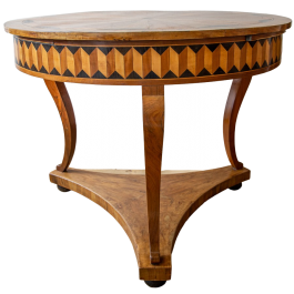 An early 19th century inlaid centre table