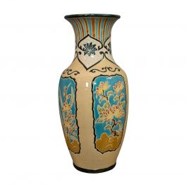 Large Vintage Decorative Vase, Oriental, Ceramic Urn, Hallway, Stick Stand, 1980