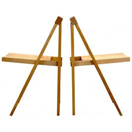 Large Stock of Aldo Jacober Folding Chairs for Alberto Bazzani
