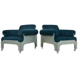 Very Rare SZ 85 Spectrum Easy Chairs by Jan Pieter Berghoef, 1968