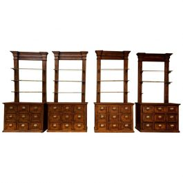 Antique Catalonian Apothecary Chemist Cabinets ONE PAIR AVAILABLE
