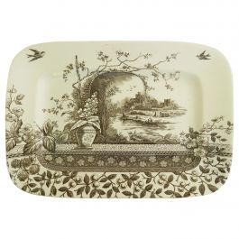 Meat Plate English Chinoiserie, circa 1910