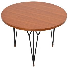 Circular Cherrywood Side Table