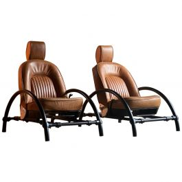 Ron Arad Rover Chairs Pair by One Off Limited circa 1981 Set 2