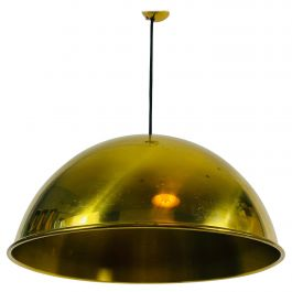 Polished Brass Pendant Lamp by Florian Schulz, 1970s, Germany