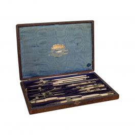 Antique Technical Drawing Set, Cartographer, Architect, Harling of London, 1900