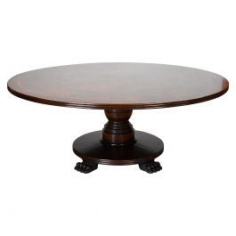 Large Regency Style Mahogany Circular Dining Table