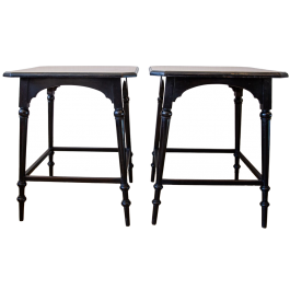 A pair of early 20th century Arts and Crafts side tables