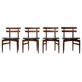Teak Midcentury Dining Chairs by Poul Hundevad