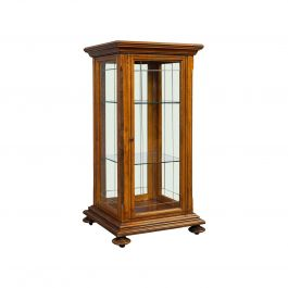 Antique Shop Display Cabinet, English, Oak, Walnut, Showcase, Edwardian