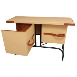 Jacques Adnet Console or Buffet with Pivoting Drawers for Hermes