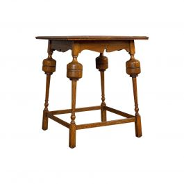 Antique Occasional Table, English, Oak, Side, Wine, Arts & Crafts, Edwardian