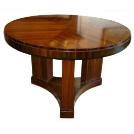Large Art Deco Kingwood-Top Occasional Table