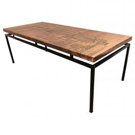Modernist Copper Coffee Table, 1960s