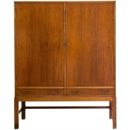 A Mahogany Two Door Cabinet By Ole Wanscher (1903 - 1985)