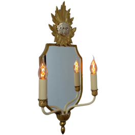 Pair Of 1970'S Mirrored Wall Lights