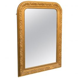 Antique Wall Mirror, English, Gilt Gesso, Neoclassical Revival, Victorian, 1900